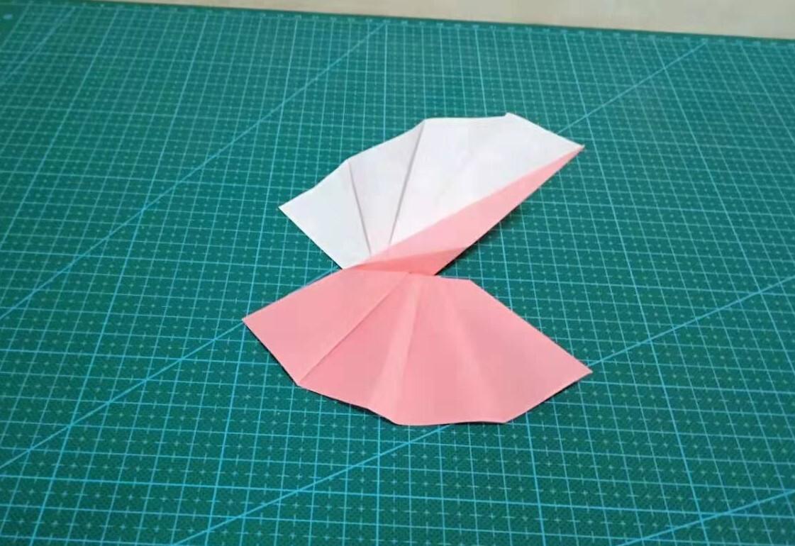漂亮的裙子,折法簡單,兒童折紙,diy手工!圖片