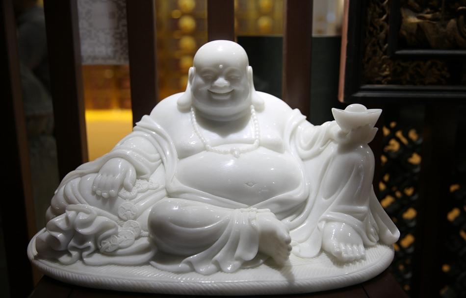 见着皆欢喜!实拍厦门佛事展中的弥勒菩萨