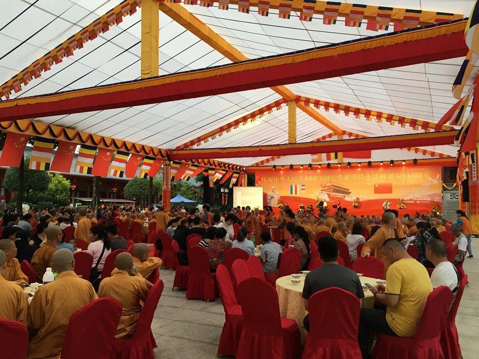 实拍:四川尼众佛学院纪念隆莲法师诞辰110周年欢迎晚宴