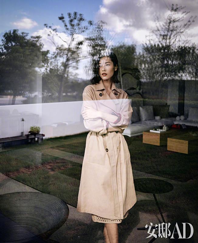 超模刘雯登上《AD安邸》十月刊封面