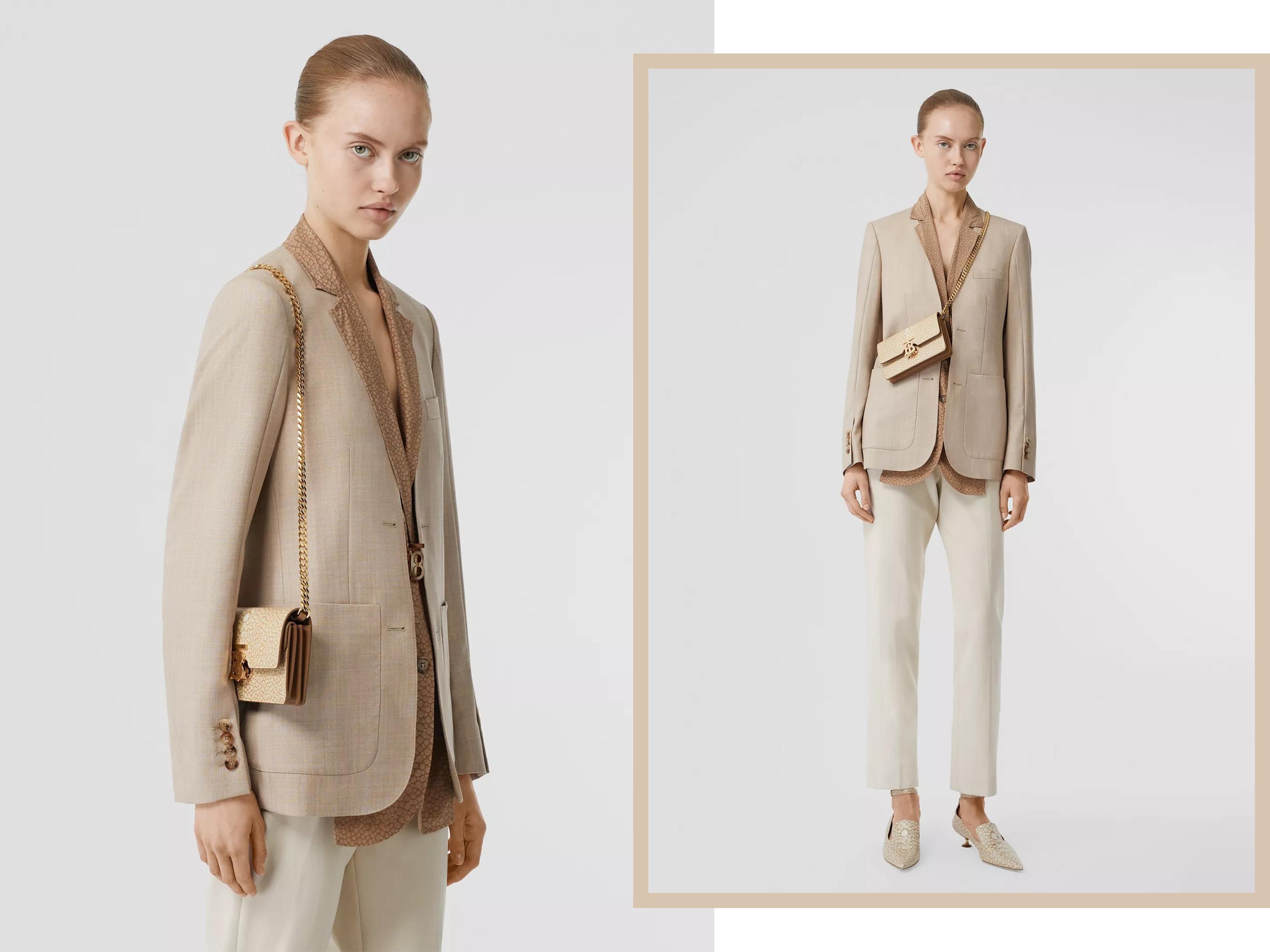 国模色中色_另一只奶茶色的tb bag是2019秋冬成衣秀上国模贺聪拿的这只,其实是