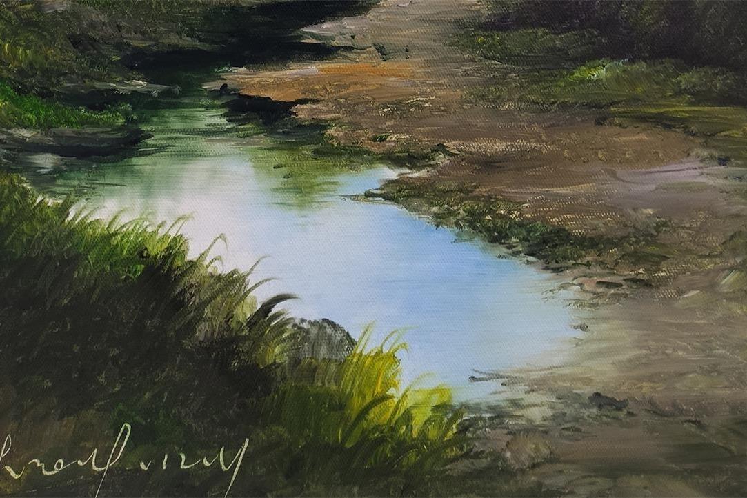 刀画中田野上的泥泞小道蜿蜒向远方,浓浓的乡土气息扑面而来了
