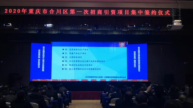 """合川招商引资""""开门红""""集中签约35个项目总投资288亿元"""