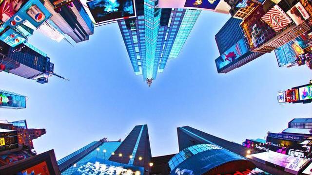 一二映像:新春祝福纽约时代广场大屏路透屏纳斯达克大屏