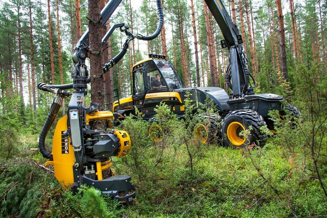 全自动伐木机械,搞定一棵树不要一分钟,速度实在太快了