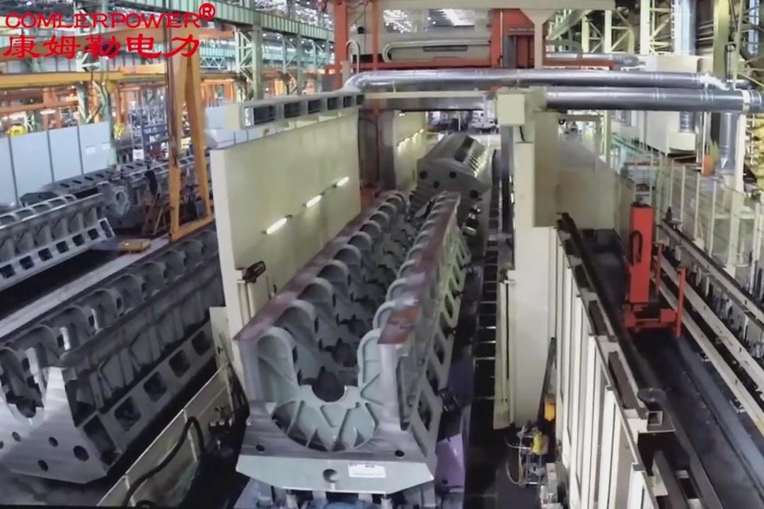 博物馆备用发电机组 柴油机生产实拍