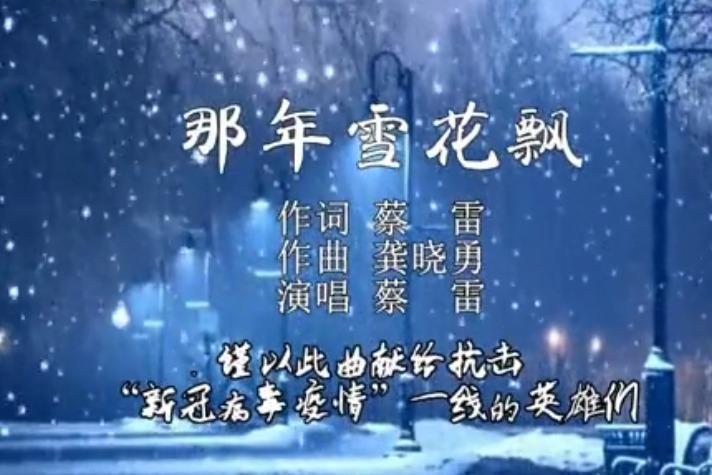 贵阳市白云区文化馆创作抗疫歌曲《那年雪花飘》青年歌手蔡雷演唱
