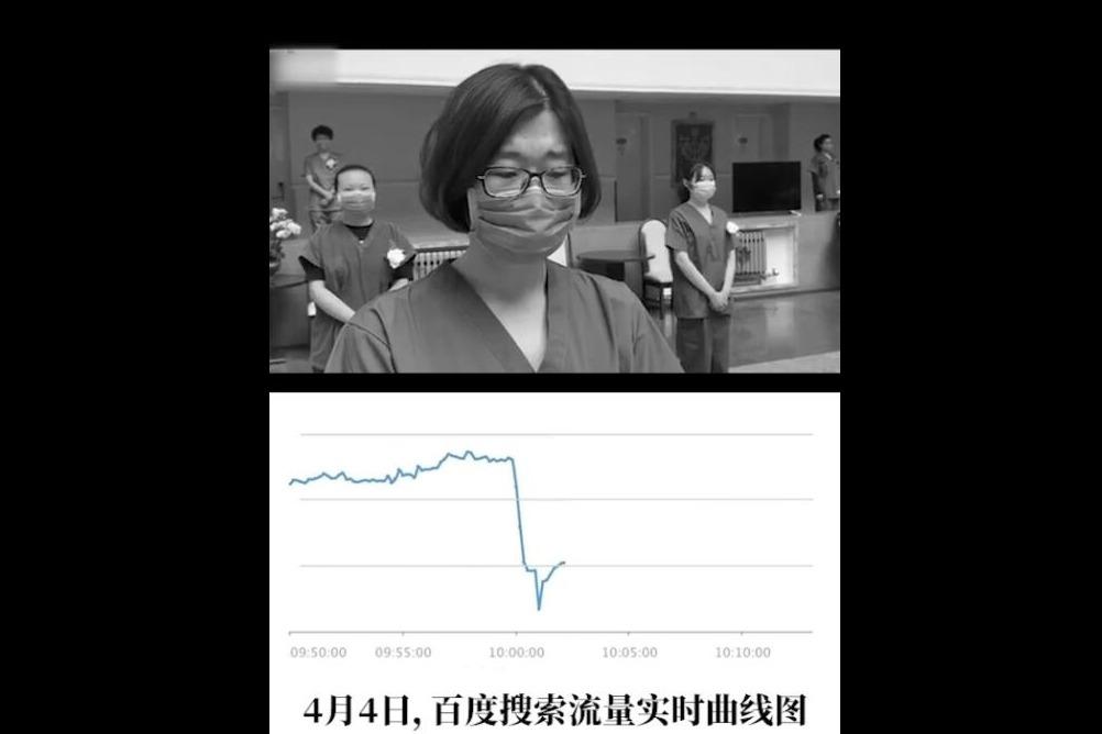 4月4日上午10点的这张百度搜索流量曲线图值得被记住,中国加油!