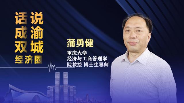 《话说成渝双城经济圈》对话重庆大学经管院教授 博导 蒲勇健