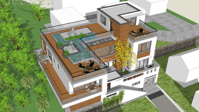 北京易盖房昌平带地下室+车库的现代别墅