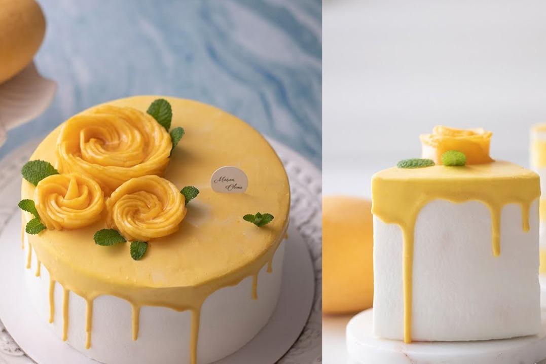 新手烘培小白也可以做:自制芒果蛋糕怎么做?好吃又简单