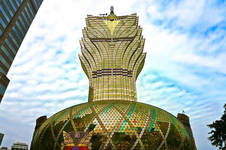 澳门旅游路过新葡京,真壮观!
