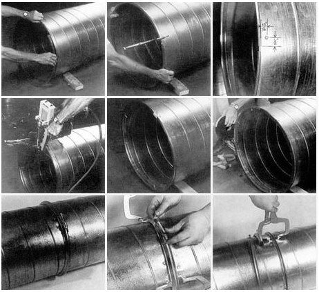 凯汇通分享:风管生产线中螺旋风管的用途