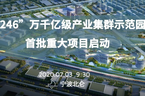 """""""246""""万千亿级产业集群示范园首批重大项目启动"""