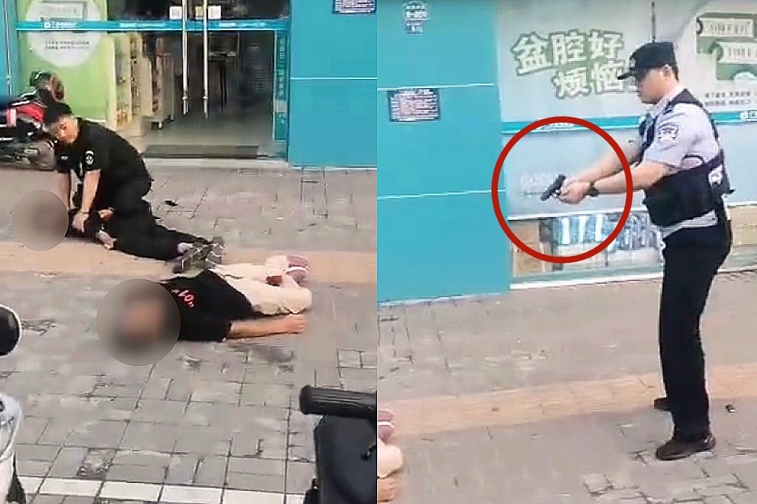 江苏淮安2名袭警嫌疑人落网现场 逃犯被警察开枪击伤抓捕