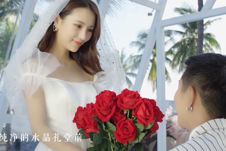 凤凰视频:三亚大小洞天婚拍基地精彩亮相第37届上海国际婚纱展