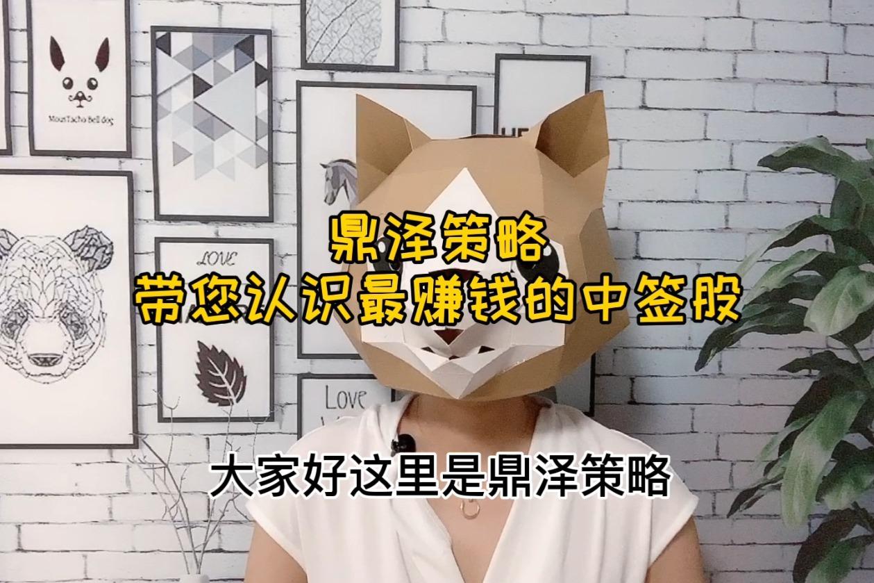 在线股票配资炒股公司鼎泽配资平台解读中签股怎么看