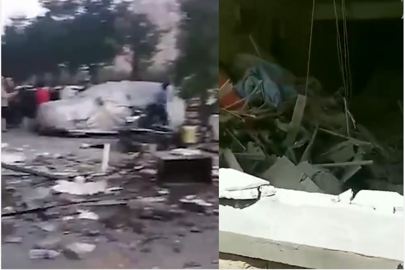 辽宁一餐馆疑似煤气罐爆炸,目击者:树被炸了,车也被炸了