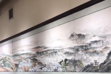 九旬画家笔墨丹青绘43米黄河长卷