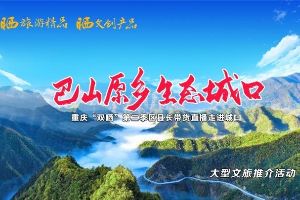 """视频丨重庆""""双晒""""第二季区县长直播走进城口"""