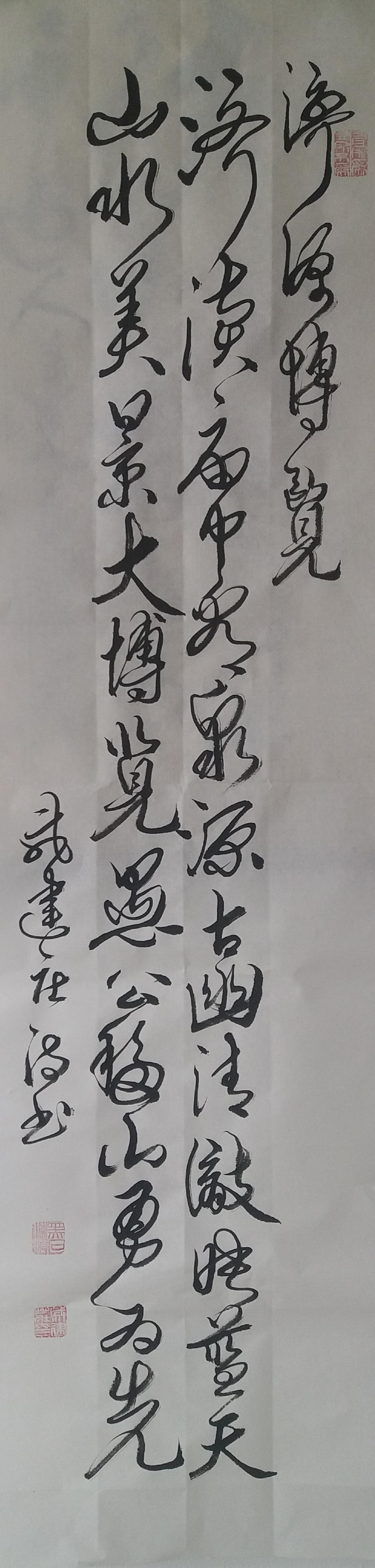 戚建庄:美丽河南诗歌书法(之二十)