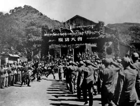 图4:志愿军举办的庆功大会