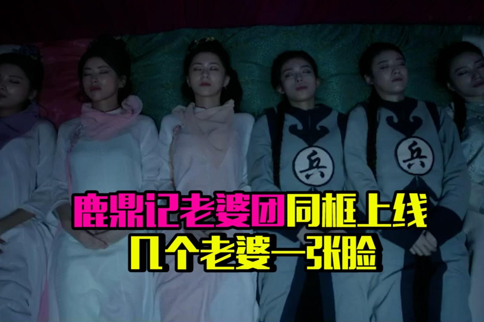 韦小宝老婆团同时上线,6人躺一排姿势一模一样,网友:分不清脸