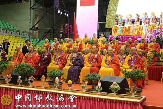 2019年12月,中国佛教协会代表团赴澳出席庆祝澳门回归二十周年祈福法会活动。(图片来源:中国佛教协会)