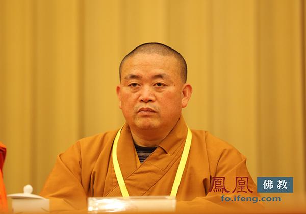 中国佛教协会副会长永信法师(图片来源:凤凰网佛教)