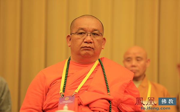 中国佛教协会副会长帕松列龙庄勐(图片来源:凤凰网佛教)