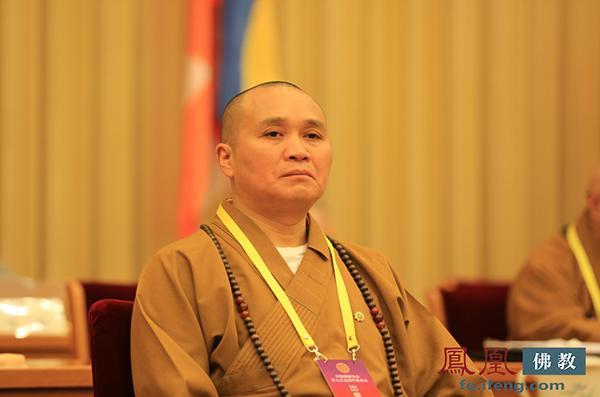 中国佛教协会副会长永寿法师(图片来源:凤凰网佛教)