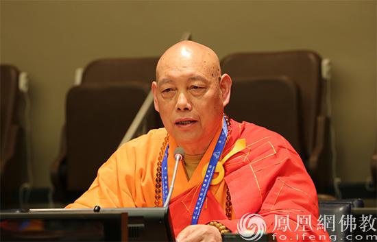 中国佛教协会副会长道慈法师(图片来源:凤凰网佛教 摄影:李保华)