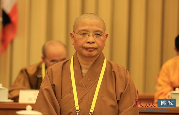 中国佛教协会副会长如瑞法师(图片来源:凤凰网佛教)