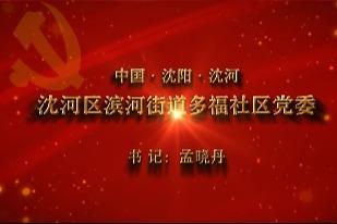 【视频】党,就在身边——沈阳沈河区滨河街道多福社区党委