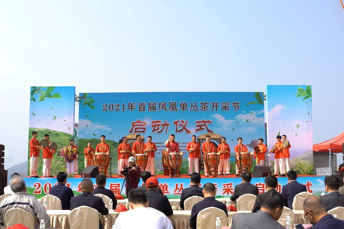 2021年首届凤凰单丛茶开采节在潮州市凤凰镇正式启动