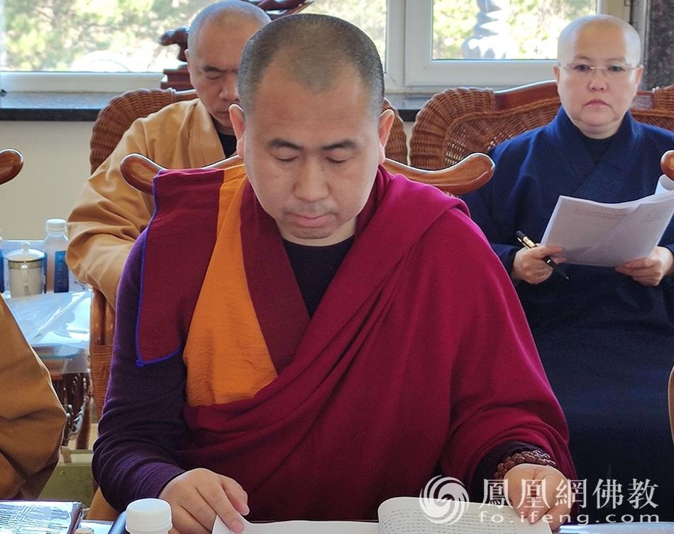 吉林省佛教协会副会长格桑隆多(图片来源:凤凰网佛教 摄影:吉林省佛教协会)