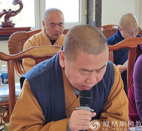 吉林省佛教协会副会长明宽法师(图片来源:凤凰网佛教 摄影:吉林省佛教协会)