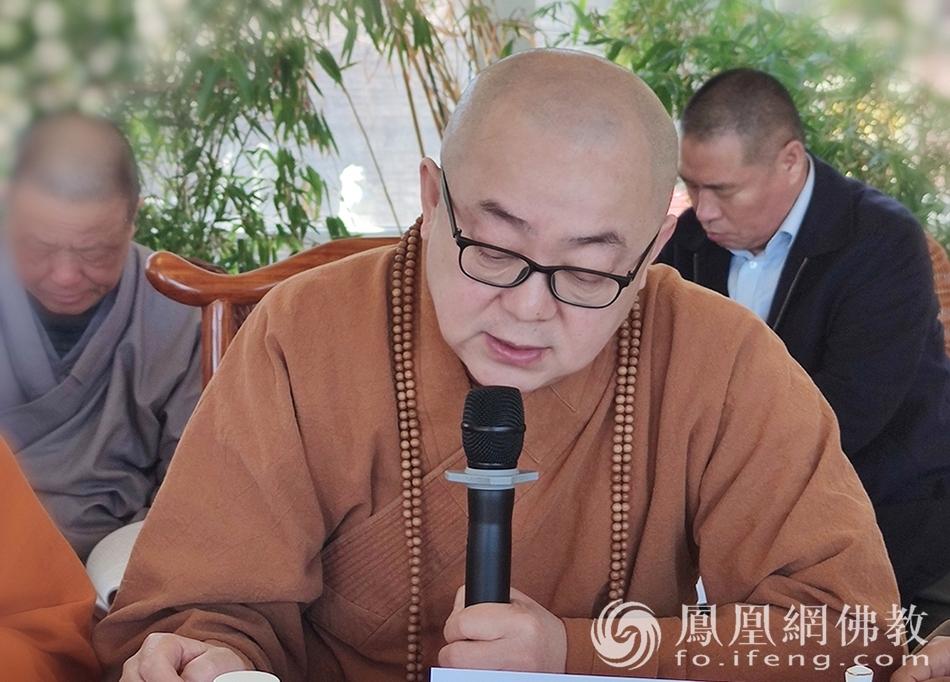吉林省佛教协会副会长照睿法师(图片来源:凤凰网佛教 摄影:吉林省佛教协会)