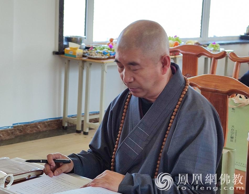 吉林省佛教协会副会长果如法师(图片来源:凤凰网佛教 摄影:吉林省佛教协会)
