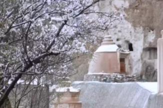 瓜州县榆林窟因雨雪天气暂停对外开放