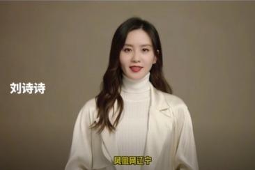 气质姐姐@刘诗诗 为凤凰网辽宁娱乐打call啦!