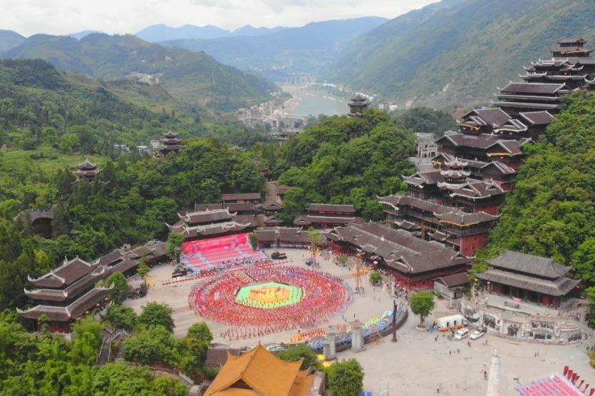 视频丨剧透:2021·第十届中国乌江苗族踩花山节开幕式彩排花絮
