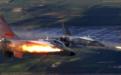 海军战机穿云层俯冲开火 火箭弹点穴式命中目标