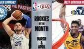 NBA公布月最佳新秀:西蒙斯米切尔分获殊荣