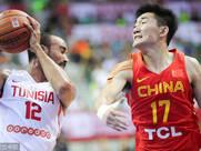 2018斯杯:中国男篮红队77-72击败突尼斯