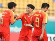 亚运-U23国足6-0东帝汶 高准翼梅开二度