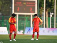 中国国青惜败墨超劲旅 球员赛后失落
