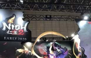 2019TGS:仁王2展台渐变光效雕像