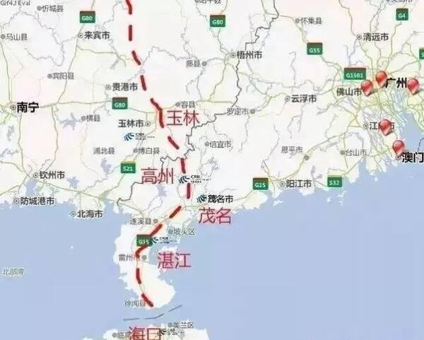 总投资:144亿 开工时间:2019年 沿线地区:湛江-海安 16,沈白高铁 全