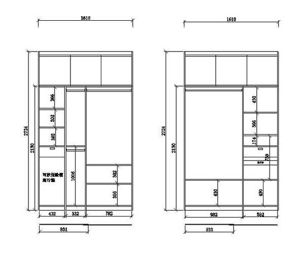 1-3m寬衣柜設計尺寸+科學布局,比百寶箱還牛,我還能再圖片